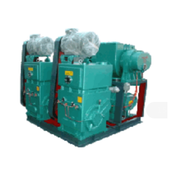 Roots pump sysems with rotary pison pumps