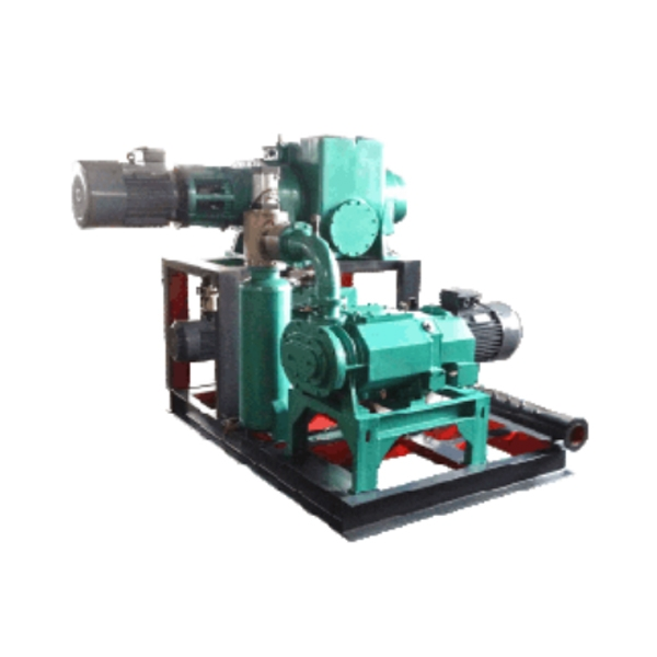 Roots screw vacuum unit (three-stage pump unit)
